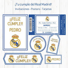 Kit Set Decoracion Fiesta Imprimible De Real Madrid 550 00 En