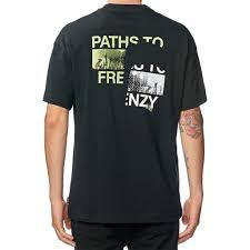 t shirt globe frenzy black nesk8