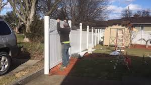 Steel Post Vinyl Privacy Fence Install Narration Version Hd Youtube