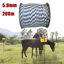 Electric Fence Wire 5 0mm 200m Electric Fence Poly Wire For Horse Sheep Fencing Lazada Ph