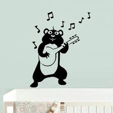 Amazon Com Bear Wall Decals For Kids Black Bear Wall Art Bear Wall Decal Bear Wall Decals Nursery Bear Wall Decor Bear Wall Stickers Z698 Home Kitchen