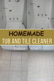 homemade tub and tile cleaner simple