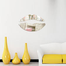 17 Off 2020 Mirror Wall Stickers Lip Bedroom Background Diy Decoration In Silver Dresslily