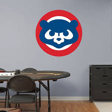 Chicago Cubs Classic Logo Chicago Cubs Mlb Cubs Room Man Cave Home Bar Baseball Bedroom