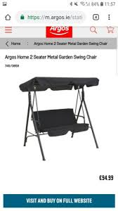 2 seater swing and cover for in