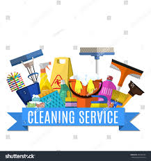 Cleaning Service Flat Illustration Poster Template Stock Vector (Royalty  Free) 404706784