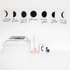 Phases Of The Moon Wall Sticker By Clara Ivy Notonthehighstreet Com