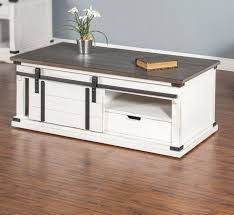 sunny designs rustic white coffee table