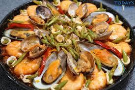 seafood paella recipe today s delight
