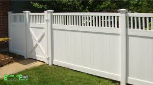 Pin By Misha Hall On Backyard White Vinyl Fence Fence Design Privacy Fence Designs