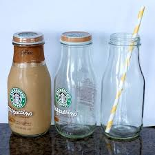 labels off of frappuccino bottles