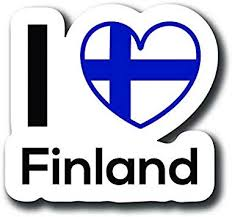 Amazon Com Love Finland Flag Decal Sticker Home Pride Travel Car Truck Van Bumper Window Laptop Cup Wall One 5 Inch Decal Mks0120 Automotive