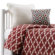 red trellis bedding set twin liz