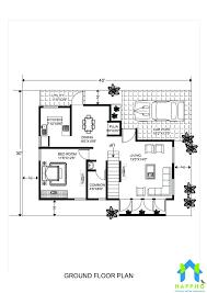 1 bhk floor plan for 20 x 40 feet plot