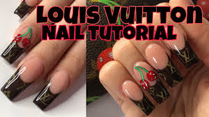 louis designer french nail tips