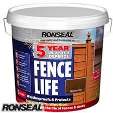 Buy Ronseal 5 Year Fence Life Medium Oak 5l At Home Bargains