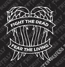 Fight The Dead Daryl Dixon Wings Walking Dead Vinyl Car Truck Decal Sticker Rick Ebay