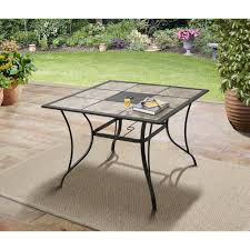tiled patio dining table