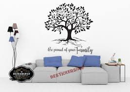Family Roots Wall Decal Quote Tree Art Vinyl Home Sweet Home Etsy