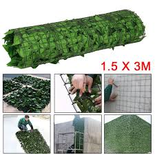 Artificial Ivy Leaf Hedge Screening Privacy Screen Garden Fence Panels 1 5m X 3m Wish
