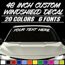 48 Custom Vinyl Windshield Banner Lettering Decal Name Sticker Window Tattoo Ebay