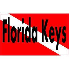 5in X 3in Florida Keys Dive Flag Bumper Sticker Vinyl Decal Stickers Decals Walmart Com Walmart Com