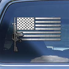 Ar15 M4 Rifle Firearm Window Decal Sticker Usa Flag Ar 15 Rifle Decal Sticker Home Garden Decor Decals Stickers Vinyl Art
