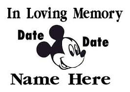 In Loving Memory Memorial Child Mickey Mouse Car Decal Sticker 8x12 6 49 Picclick