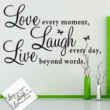 Letters Assorted Design Love Laugh Live Art Word Decal Wall Sticker For Studio Room Home Decor Wish