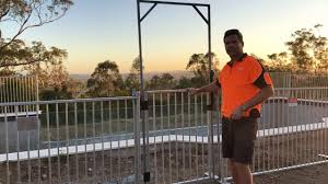 Gate Installation For Temporary Pool Fence Youtube