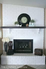 painted brick fireplace painted brick