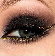 black and gold eye shadow make up
