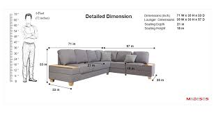 mavrick l shape sofa with storage