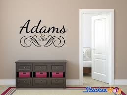 Personalized Family Name Wall Decal Monogram Living And Family Room Vinyl Wall Graphics Bedroom Home Decor