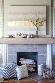 how to style a mantel for autumn wood