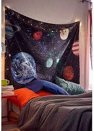 Amazon Com Dremisland Outer Space Planet Moon Earth Stars Wall Hanging Wall Tapestry Home Art Decor Wall Decor For Kids Babys Children Bedroom Rooms Ceiling Living Room Nursery School Large 59 X 79