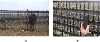 A View Of One Of The Lightweight Plastic Snow Fences Tested At The Fi Download Scientific Diagram