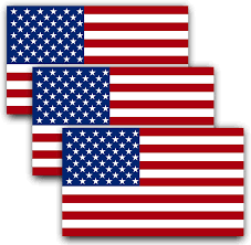 Amazon Com Anley 5 X 3 Inch American Us Flag Decal Patriotic Stars Reflective Stripe Usa Flag Car Stickers Support Us Military 3 Pack Automotive