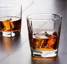 custom logo etched whiskey glasses high