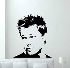 Amazon Com Brad Pitt Wall Decal Hollywood Vinyl Sticker Cinema Movie Wall Art Design Housewares Kids Room Bedroom Decor Removable Wall Mural 85rt Home Kitchen