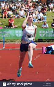 Loughborough, England, 20th, May, 2018. Abby Ward competing in the Women's  High Jump during the LIA Loughborough International Athletics annual meet  Stock Photo - Alamy