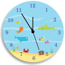 Amazon Com Life Under The Sea Wall Clock Kids Wall Clock Ocean Theme Children Room Decor Handmade