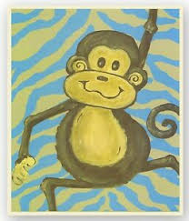 Stupell Kids Room Monkey Wall Art Ebay