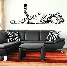 Tiger Large Animal Wall Stickers Wall Decals Wall Art Murals Large Big Ca27 In 2020 Bird Bedroom Decal Wall Art Animal Print Rooms