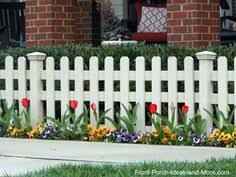Garden Fence Borders Fencing Edging Picket Grass Lawn Panel Edge Landscape Path 4 Round Tip Arrow White
