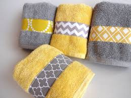 yellow and grey bath towels yellow and