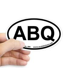 Albuquerque New Mexico Oval Car Decal Archived Designs Oval Bumper Stickers By Ovalstickers Net
