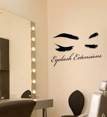 Vinyl Wall Decal Eyelash Extensions Logo Eyebrows Art Beauty Salon Sti Wallstickers4you