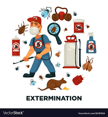 Extermination or pest control service company Vector Image
