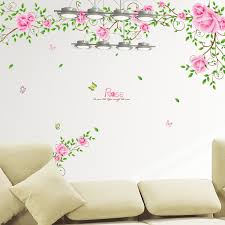 Buy Can Be Removed Romantic Furnishings Klimts Rose Vine Flower Vine Wall Stickers Living Room Tv Backdrop Bedroom Wall Decoration In Cheap Price On M Alibaba Com